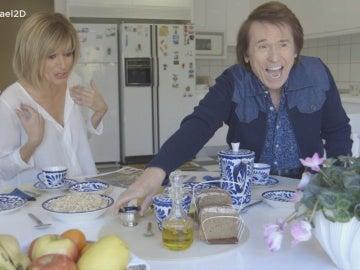 Susanna Griso desayuna con Raphael en 'Dos días y una noche'