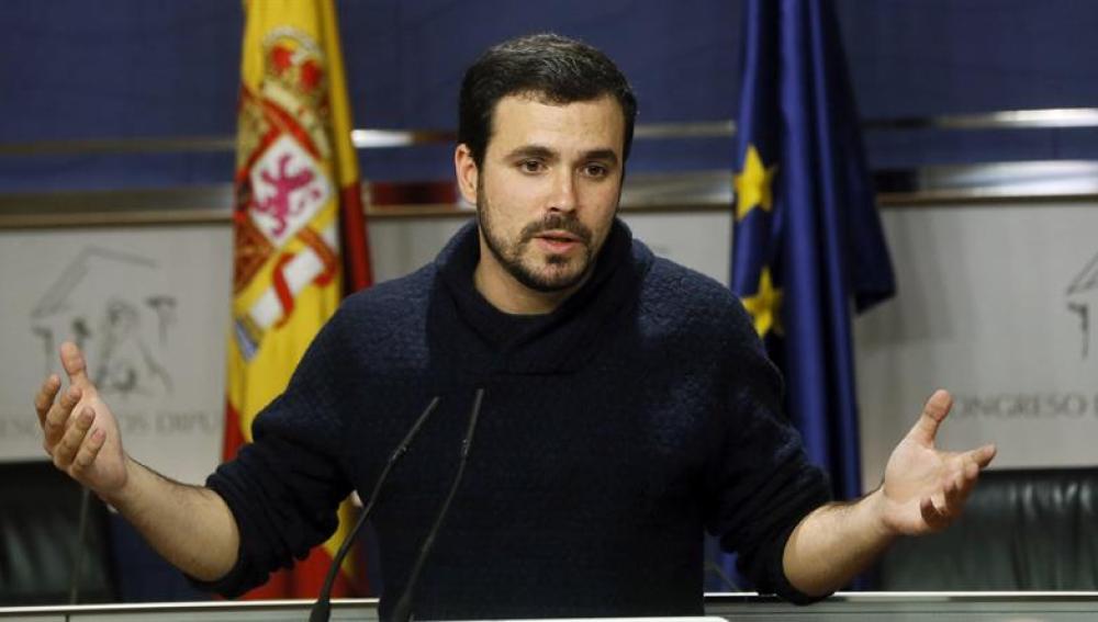 Alberto Garzón (Izquierda Unida), este viernes en el Congreso