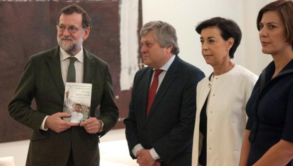 Mariano Rajoy, junto a los familiares del opositor venezolano Leopoldo López