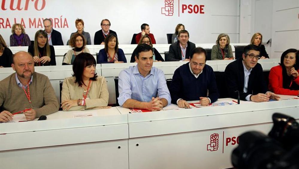 Pedro Sánchez en el comité Federal