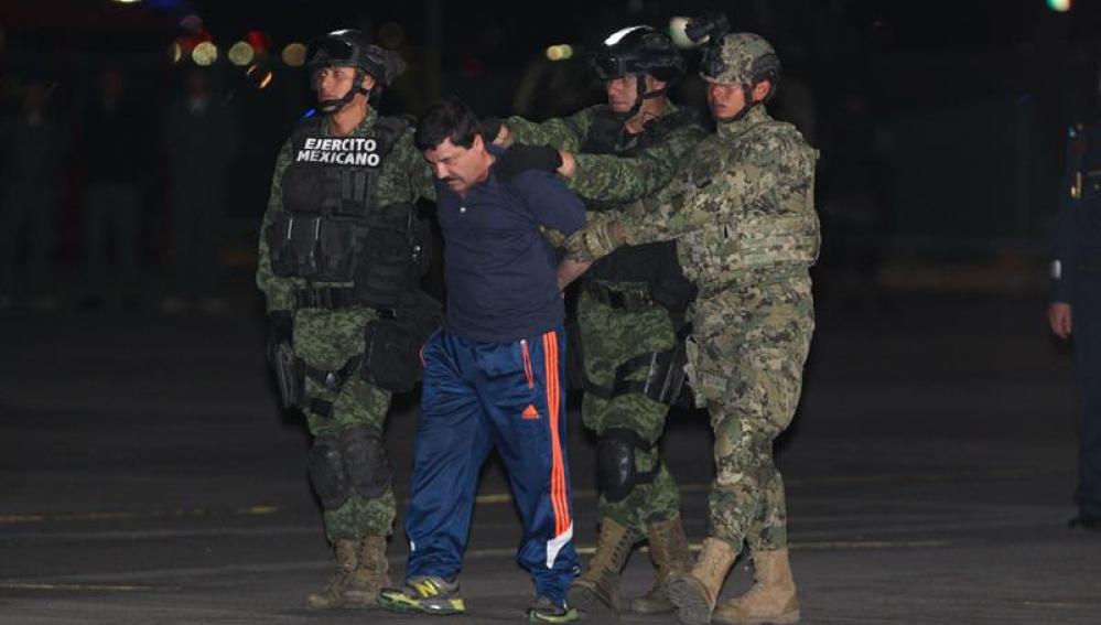 El Chapo tras su captura