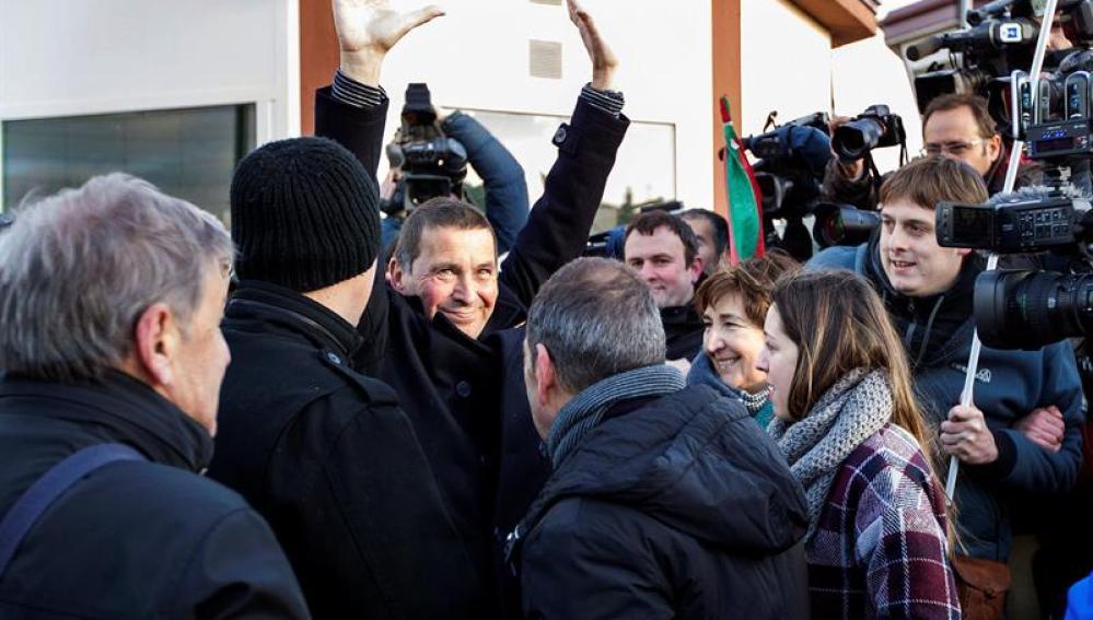 Arnaldo Otegi a su salida de prisión