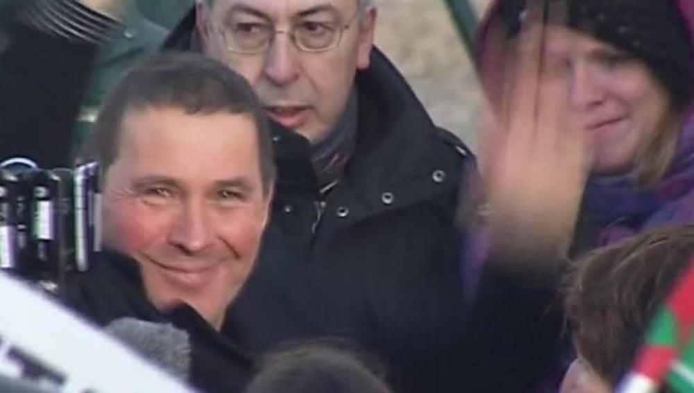 Arnaldo Otegi, tras salir de prisión