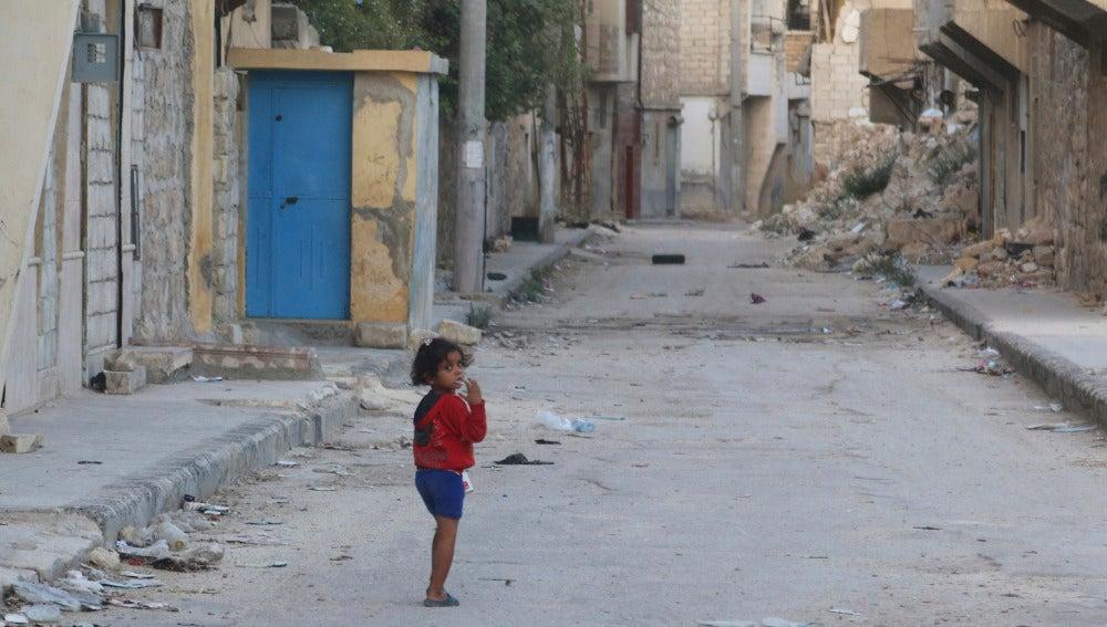 Una niña en Siria