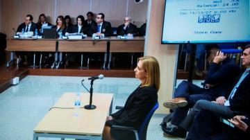 La Infanta Cristina durante su declaración ante el juez