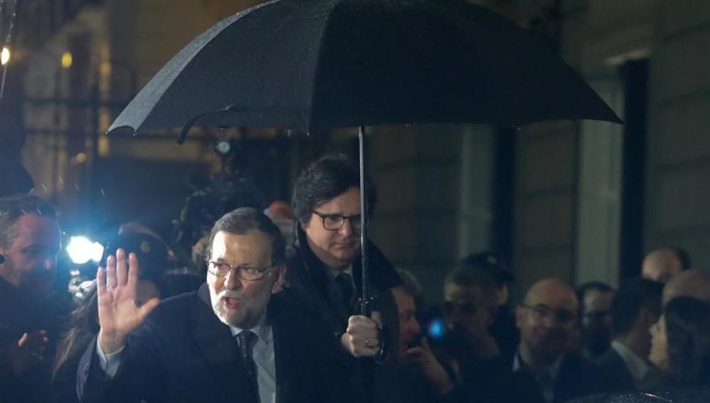 Mariano Rajoy a su salida del congreso