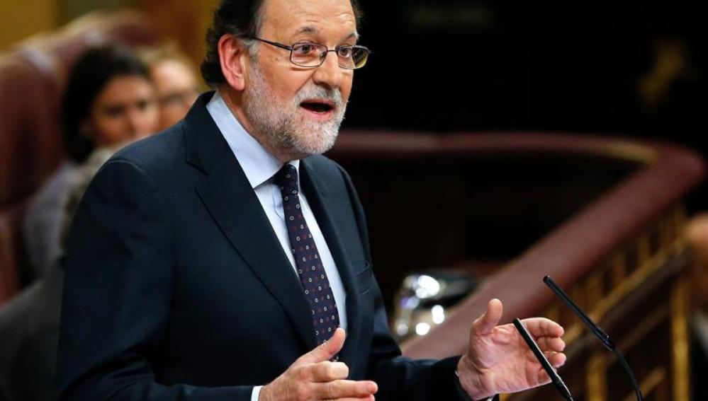 Mariano Rajoy durante su investidura