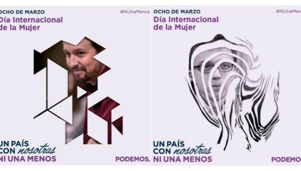 Carteles originales con Pablo Iglesias e ïgo Errejón