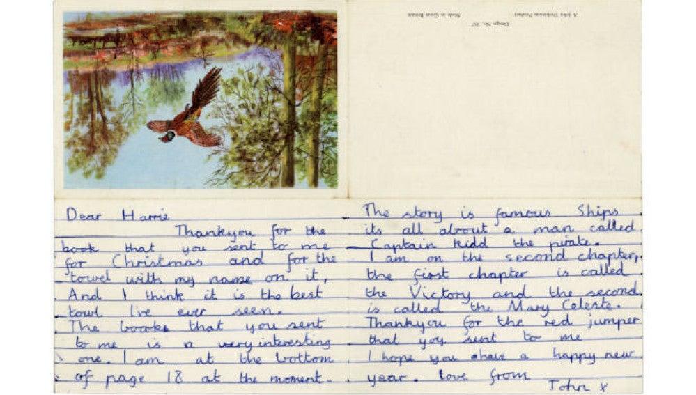 La primera carta de John Lennon