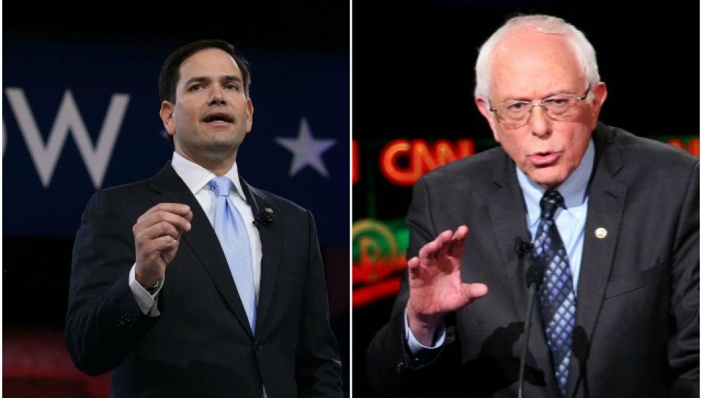 Marco Rubio y Bernie Sanders