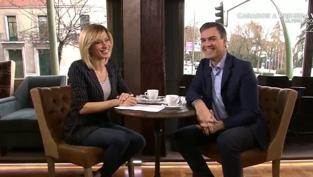 Pedro Sánchez, durante la entrevista en Espejo Público