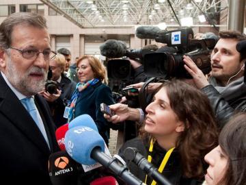 Mariano Rajoy en la sede del Consejo Europeo en Bruselas