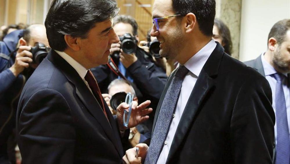 José Antonio Bermúdez de Castro junto a Antonio Hernando
