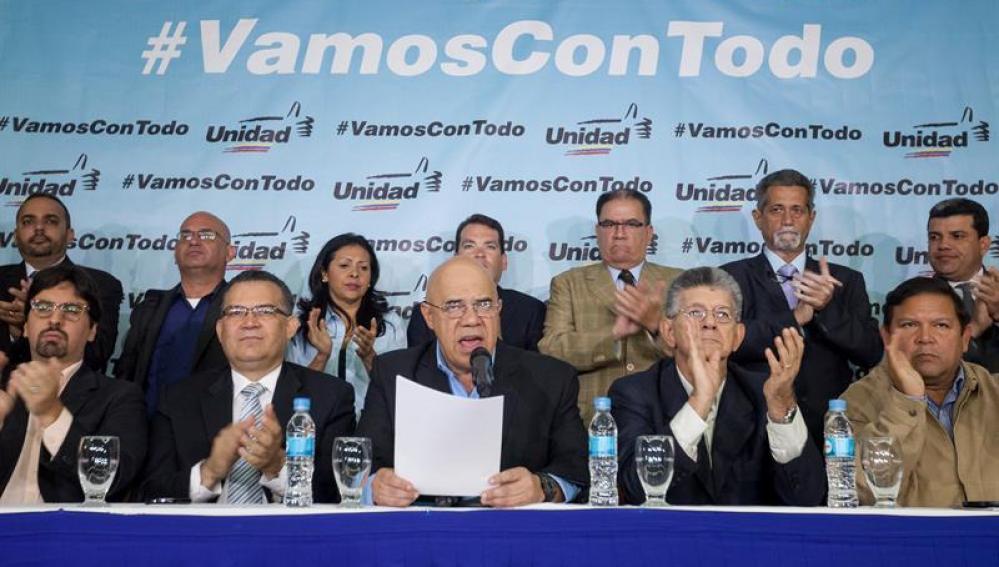 La coalición política de oposición venezolana Mesa de Unidad Democrática