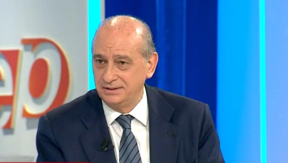 El ministro en funciones Jorge Fernández Díaz, durante una entrevista en Espejo Público
