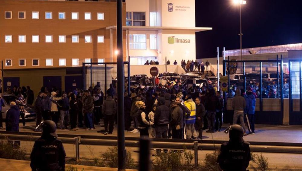 Huelga y protestas en Málaga