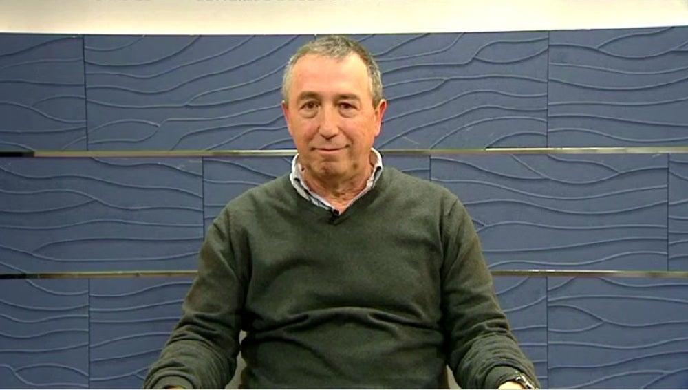 Joan Baldoví, portavoz de Compromís, en una entrevista en Espejo Público