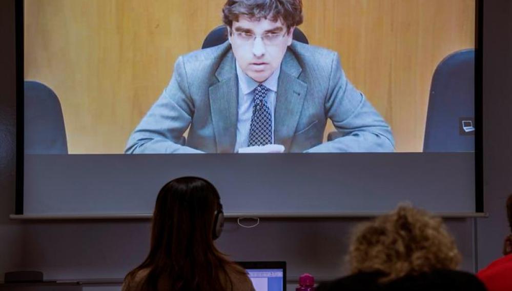 Luis Tejeiro durante su declaración en el juicio por el caso Nóos