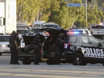 La Policía de EEUU, durante un tiroteo
