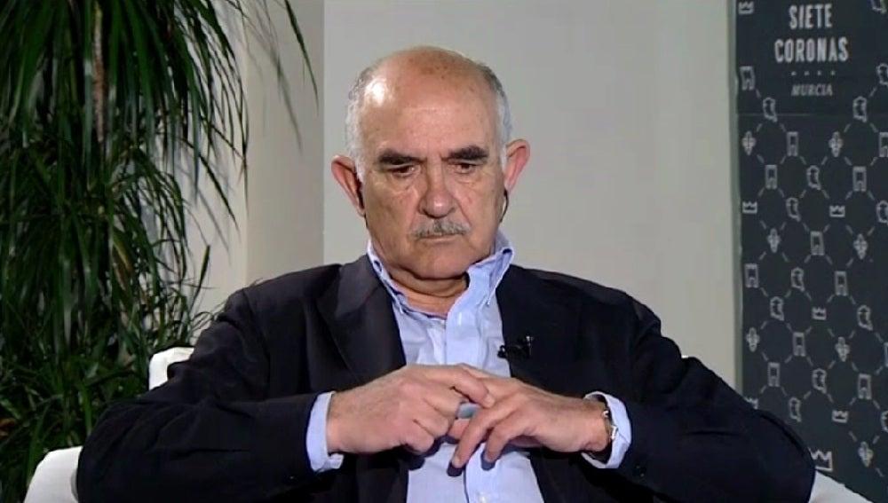 Alberto Garre, expresidente de Murcia, durante una entrevista en Espejo Público