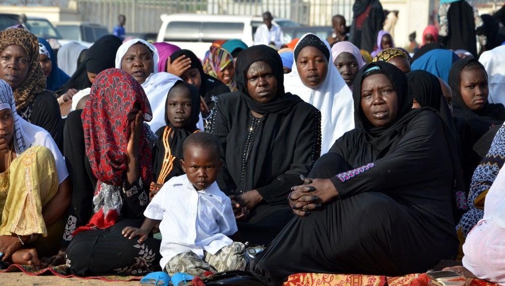 Mujeres y niños en Sudán del Sur