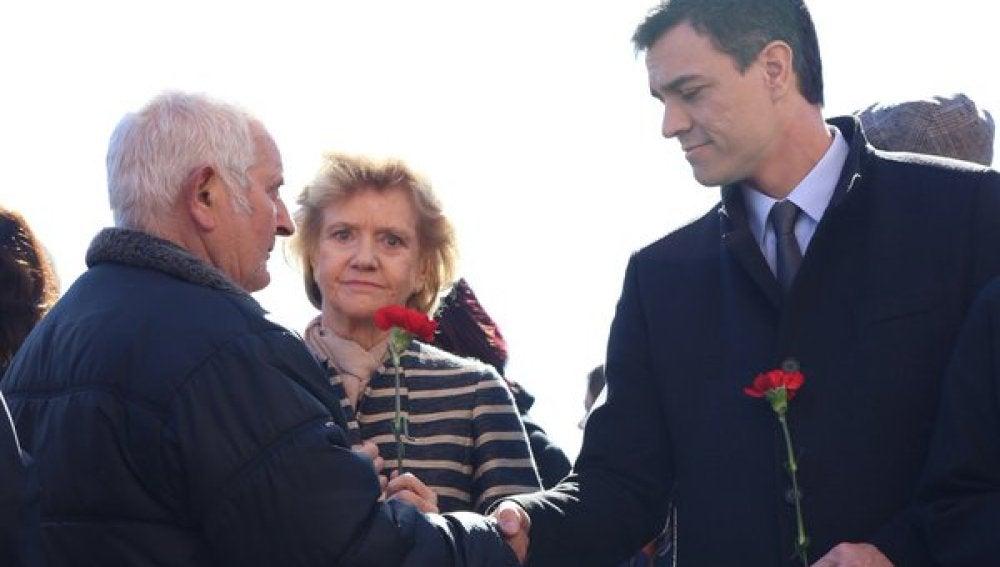Pedro Sánchez durante un acto en recuerdo a las víctimas del 11-M