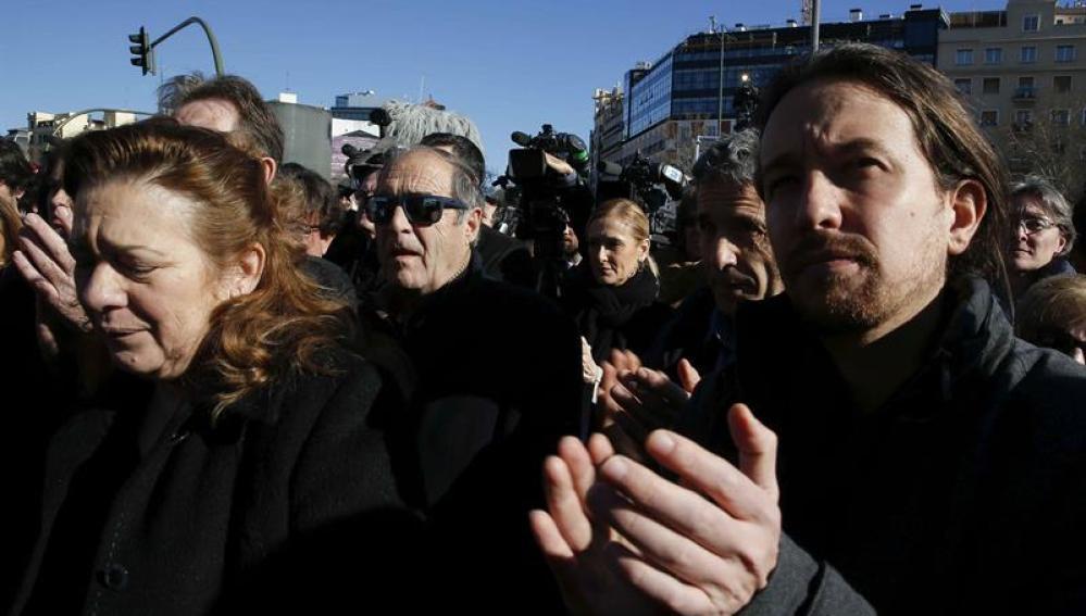 Pablo Iglesias durante un acto en homenaje a las víctimas del 11-M
