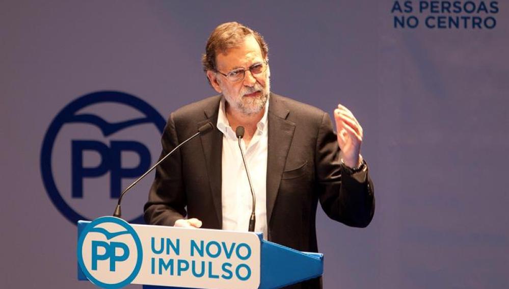 Rajoy durante el Congreso del PP en Pontevedra