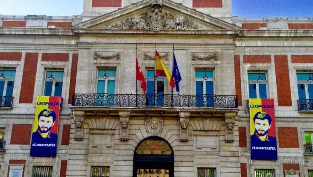 Fachada de la Presidencia de la Comunidad de Madrid