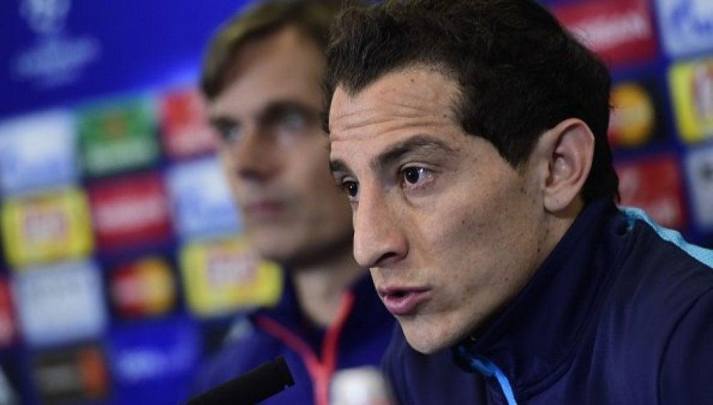 Andrés Guardado, en rueda de prensa