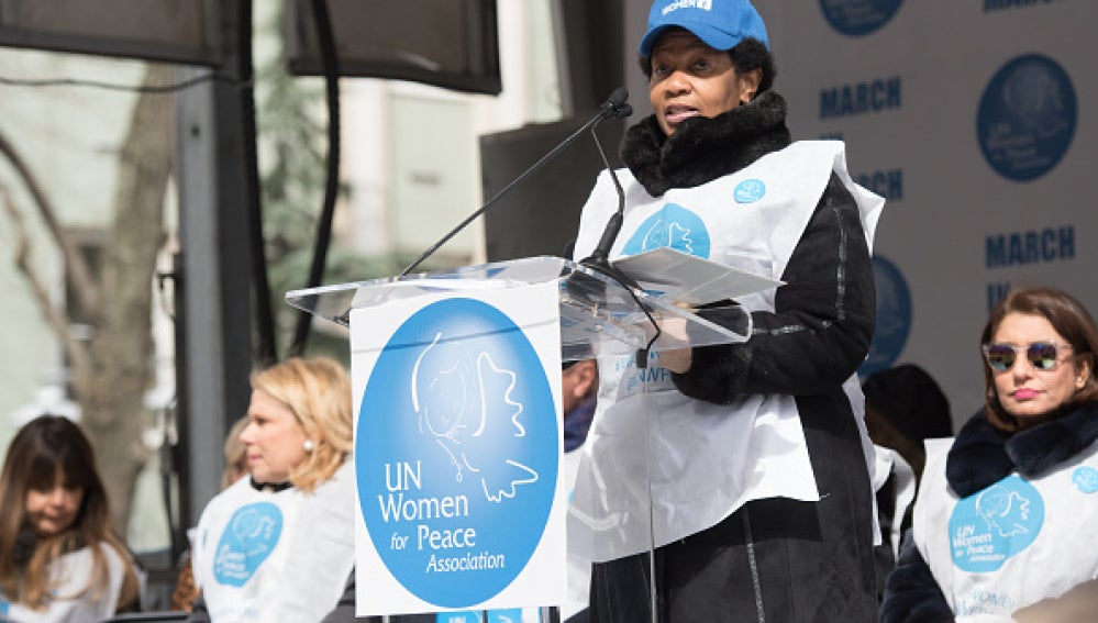 La directora ejecutiva de la ONU mujer, Phumzile Mlambo-Ngcuka