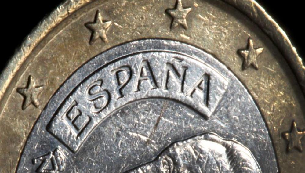 En la imagen, una moneda de euro de España