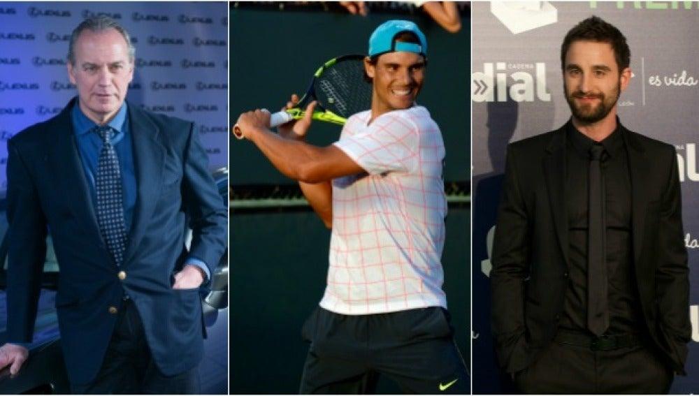 Bertín Osborne, Rafa Nadal y Dani Rovira