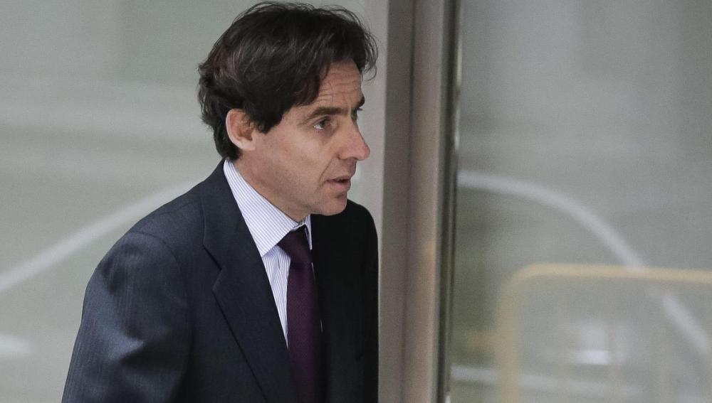 El empresario Javier López Madrid, a la salida de la Audiencia Nacional