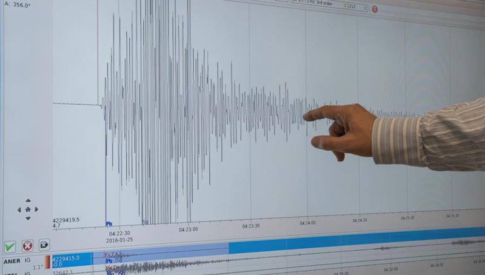 Gráfica de terremoto con epicentro en el Mar de Alborán