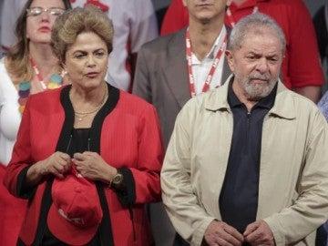 La expresidenta brasileña, Dilma Rousseff y el expresidente Luiz Inácio Lula da Silva