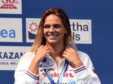 Yulia Efímova, nadadora rusa cuatros veces campeona del mundo.