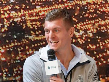 Kroos durante un acto del Real Madrid
