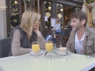 Susanna Griso, en una terraza con Fernando Tejero