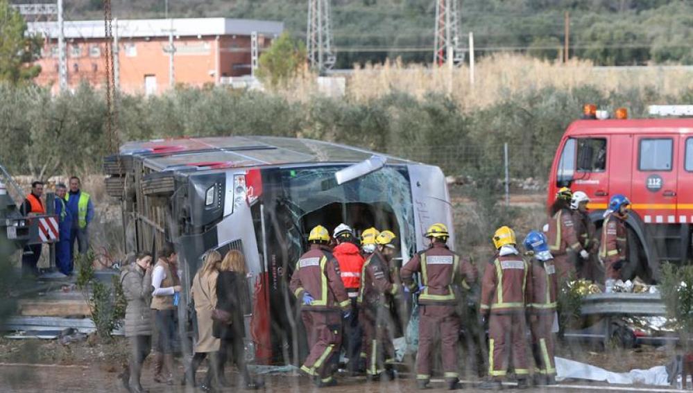 Accidente en la autopista AP-47, en Tarragona