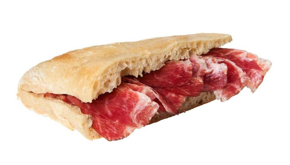 El bocadillo de jamón ibérico, un placer cardiosaludable.