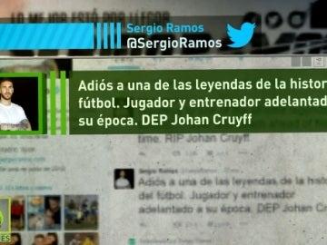 Ramos lamenta la muerte de Johan Cruyff