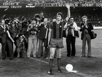 Cruyff, en su época como jugador del Barcelona