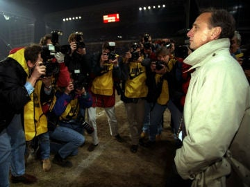 Cruyff, en su época como entrenador del Barça
