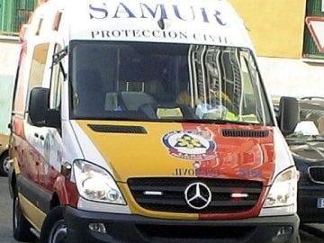 Una ambulancia del SAMUR