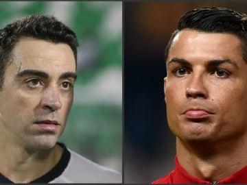 Xavi y Cristiano