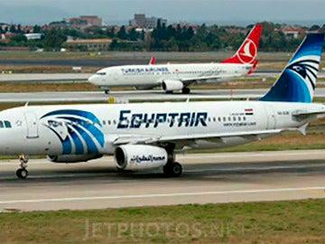 El avión secuestrado de la compañía EgyptAir