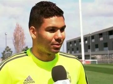 Casemiro atiende al Real Madrid