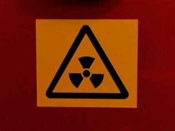 Señal de radiactividad