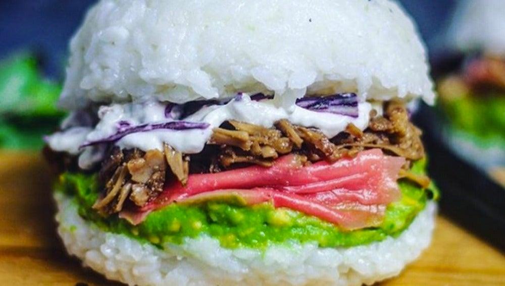 La 'sushi-burger' original, que ha desatado la fiebre.